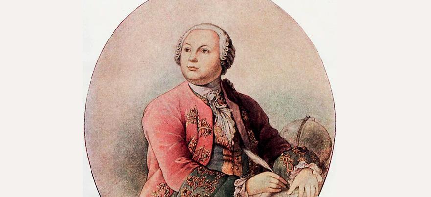 Мозаичный портрет П. И. Шувалова. Мастерская М. Ломоносова. 1785. Эрмитаж